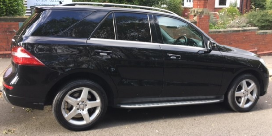Mercedes-Benz M Class 2.1 ML250 CDi BlueTEC AMG Sport 5dr Auto Estate Diesel Black at Ken Wallace Northallerton