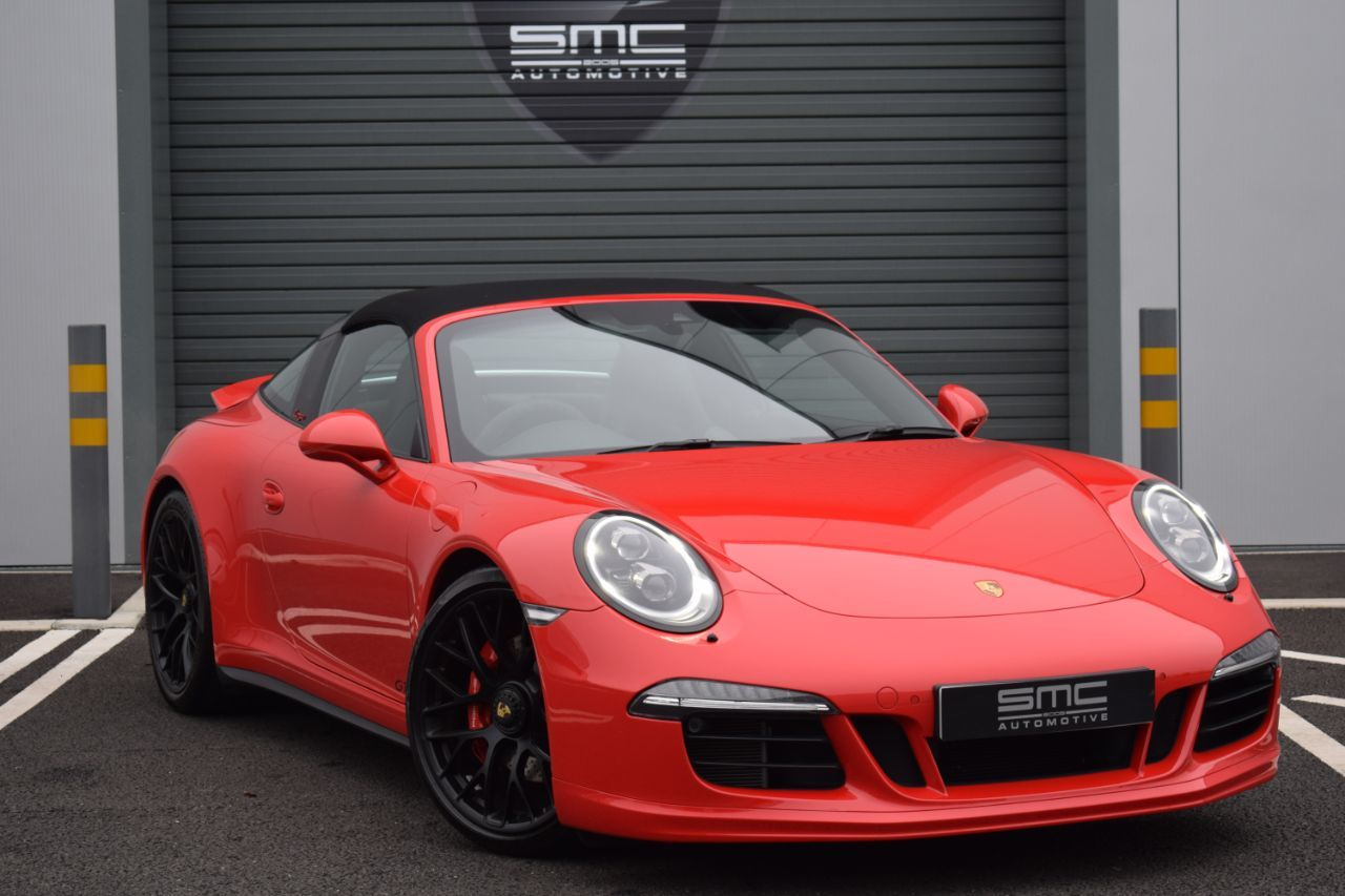 Porsche 911 3.8 TARGA 4 GTS 2dr PDK HUGE SPEC, Rare car Convertible Petrol Red