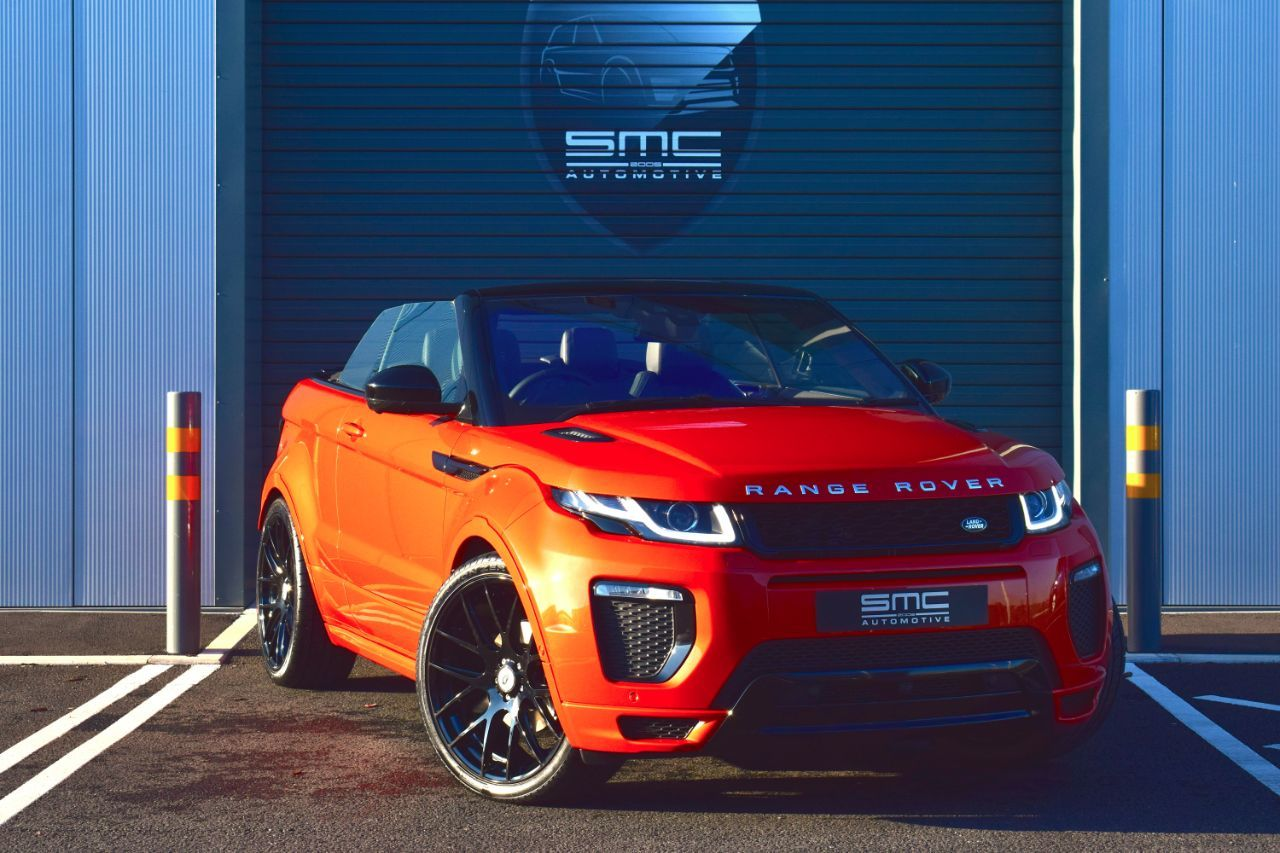 Land Rover Range Rover Evoque 2.0 TD4 HSE Dynamic Lux 2dr Auto SMC Tailored, from £757.48 per month Convertible Diesel Orange