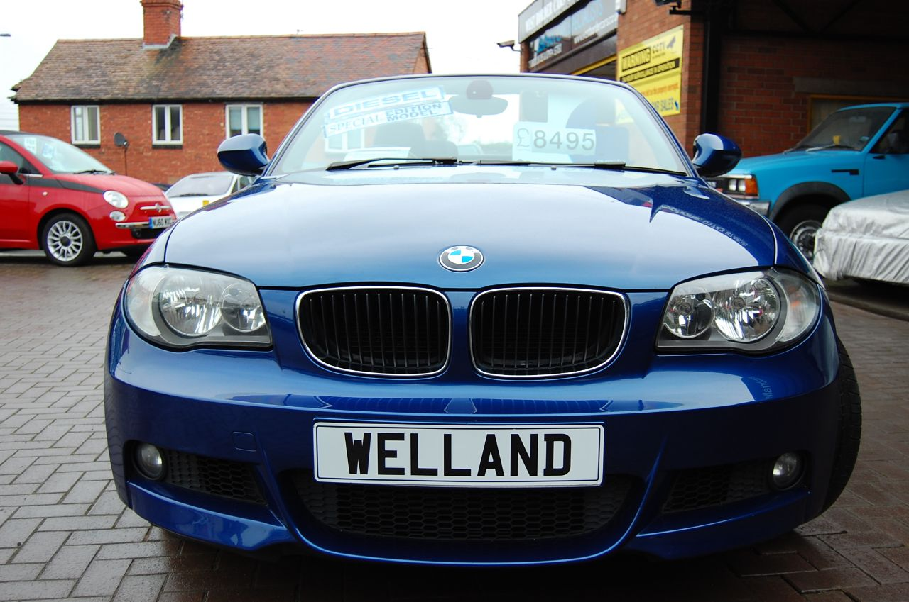 second hand bmw 1 series 123d bi turbo m sport 2dr f s h 1 owner from new motorway miles 6. Black Bedroom Furniture Sets. Home Design Ideas