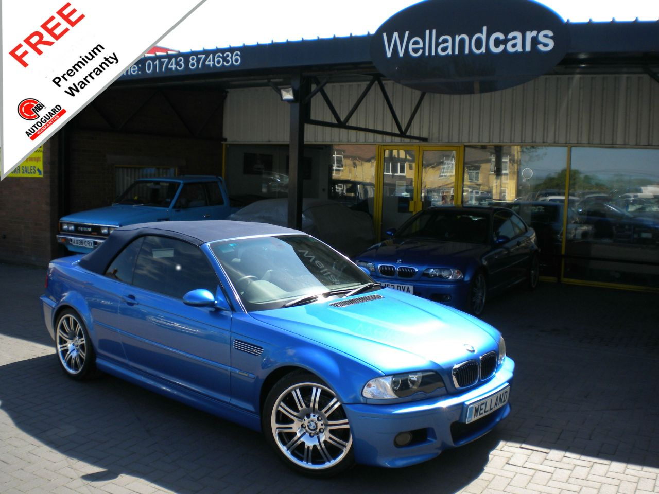 BMW M3 BMW M3 3.2 INDIVIDUAL EDITION CONVERTIBLE, HUGE SPEC,LOW MILEAGE,WARRANTY INCLUDED Convertible Petrol Estoril Blue Metallic at Welland Cars Shrewsbury