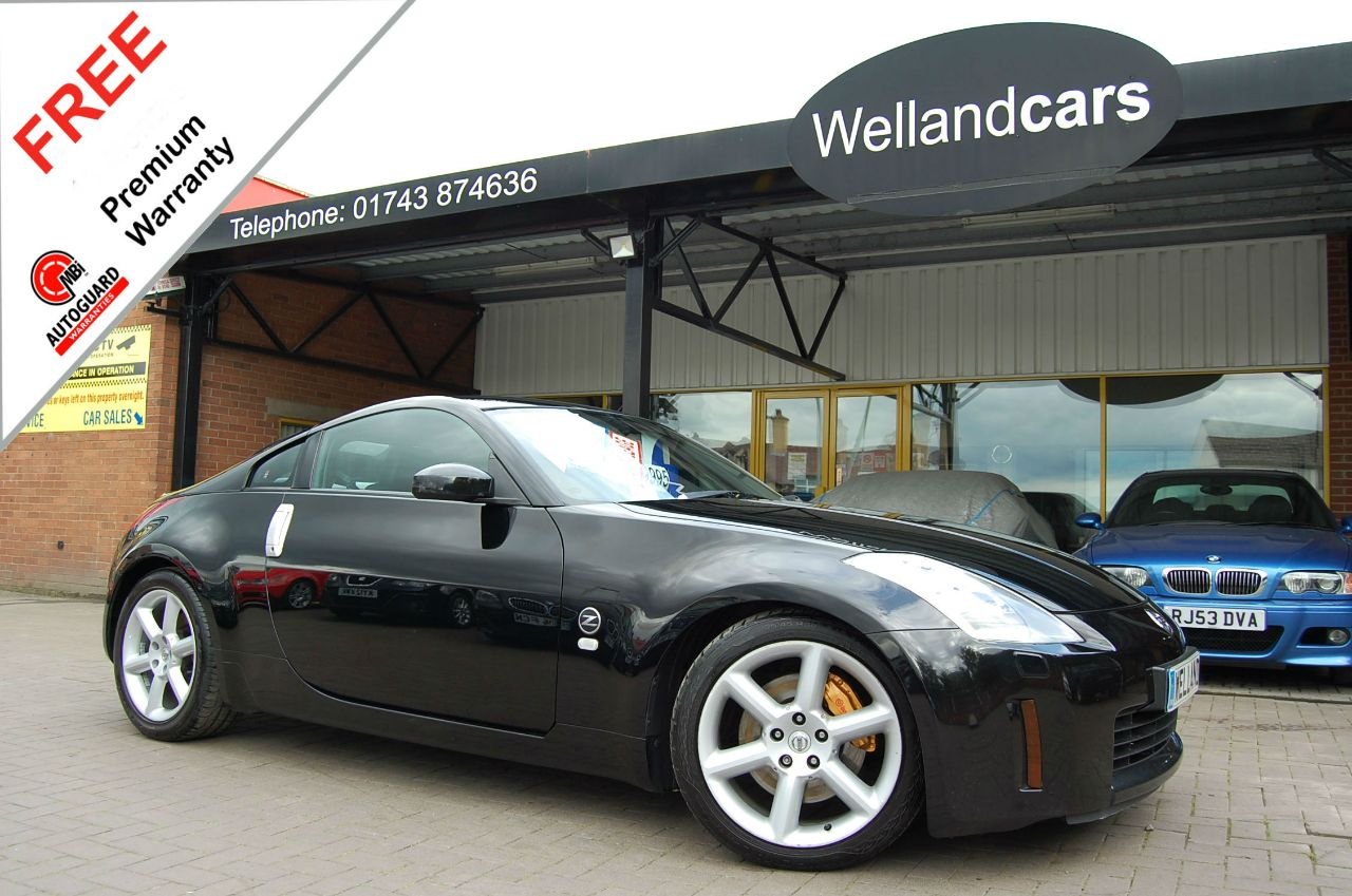 Nissan 350Z 3.5 V6 3dr GT Pack,Full NISSAN S/H,Low Miles,1 Owner,Lower Road Tax Model# 6 MONTH WARRANTY INCLUDED Sports Petrol Kuro Black Metallic at Welland Cars Shrewsbury