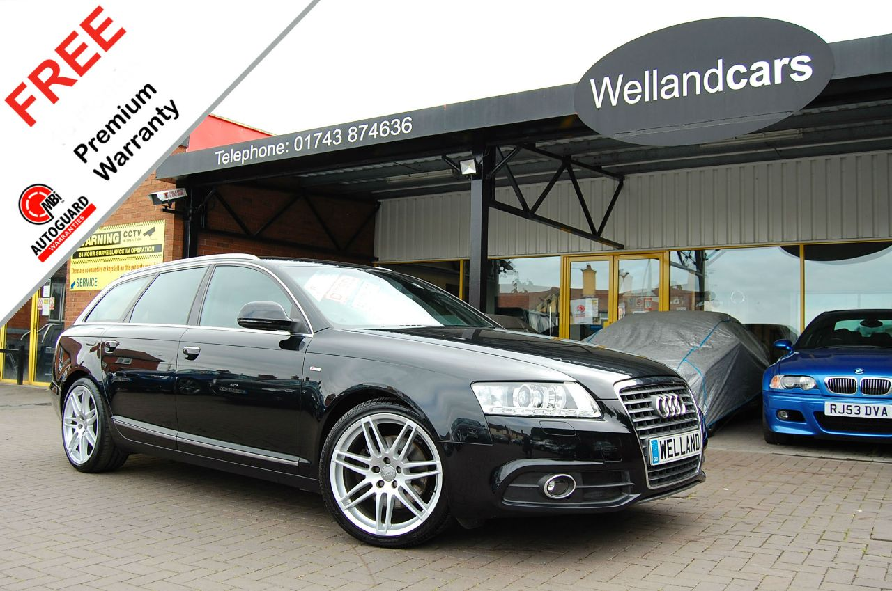 Audi A6 2.7 TDI S Line Special Ed 5dr Auto/Tip,F/S/H,SatNav,19`Alloys,Leather # 6 MONTH WARRANTY INCLUDED Estate Diesel Metallic Black at Welland Cars Shrewsbury
