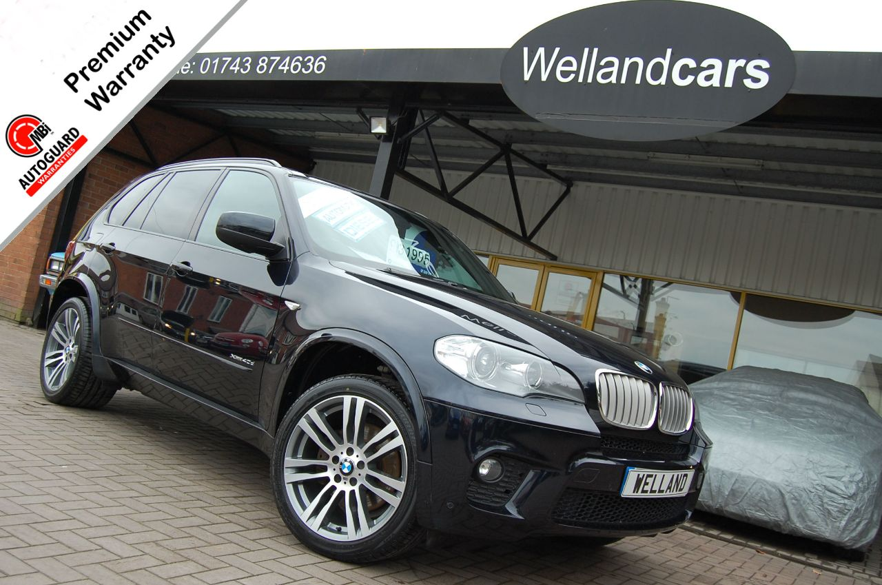 BMW X5 3.0TD xDrive 40d M Sport 5dr Tip/Auto,F/S/H, 2 Owner, Huge Spec,Pan Roof, B/Tooth, Nav, 20`Alloys + Estate Diesel Metallic Black at Welland Cars Shrewsbury