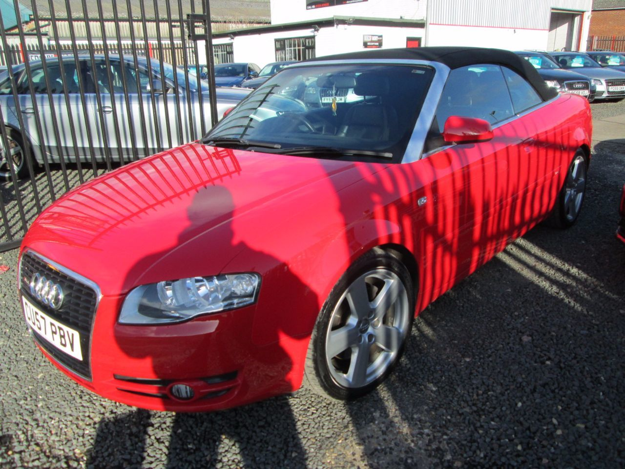Audi A4 3.0 TDi QUATTRO S LINE CABRIOLET MANUAL + BLACK LEATHER + SATNAV + SERVICE HISTORY Convertible Diesel Red