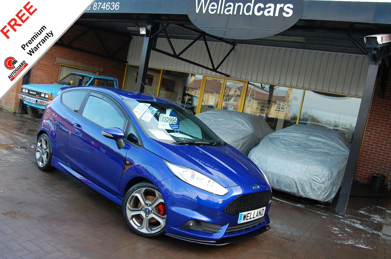 Ford Fiesta 1.6 EcoBoost Turbo ST-2 3dr, F/Ford/S/H, Low Miles, 1Owner # 6 MONTH WARRANTY INCLUDED Hatchback Petrol Spirit Blue Metallic at Welland Cars Shrewsbury