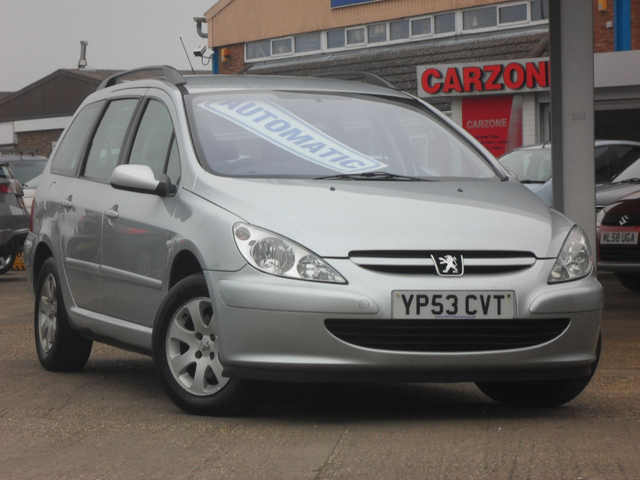 Peugeot 307 1.6 S 16V [AC] 5dr Auto Estate Petrol Silver at Carzone Of Louth Louth