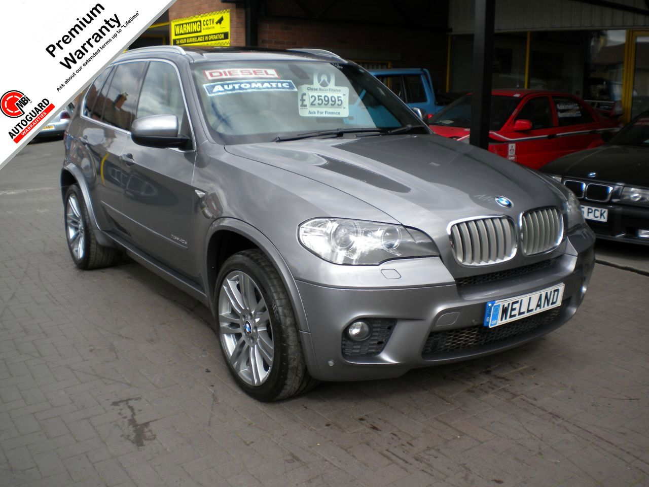 BMW X5 3.0 xDrive40d M Sport 5dr Auto, F/S/H,Panoramic Roof,Leather,Navigation - Big Spec, Estate Diesel Metallic Grey at Welland Cars Shrewsbury