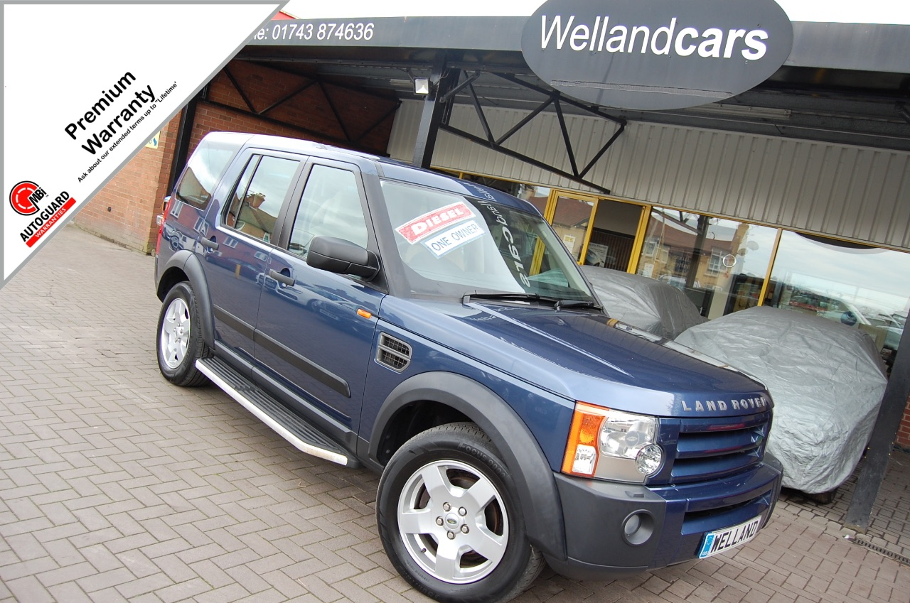 Land Rover Discovery 2.7 Td V6 S 5dr Auto, 7 Seats, 1 Owner, F/S/H, Bluetooth,Towpack,Heated Rear Seats,18`Alloys Estate Diesel Cairns Blue Metallic at Welland Cars Shrewsbury