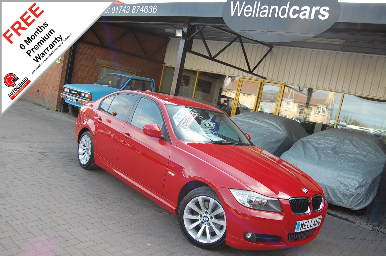 BMW 3 Series 2.0 320d SE Business Edition 4dr,Low Miles,F/S/H,Nav,Heated Leather + More # 6 MONTH WARRANTY INCLUDED Saloon Diesel Red at Welland Cars Shrewsbury