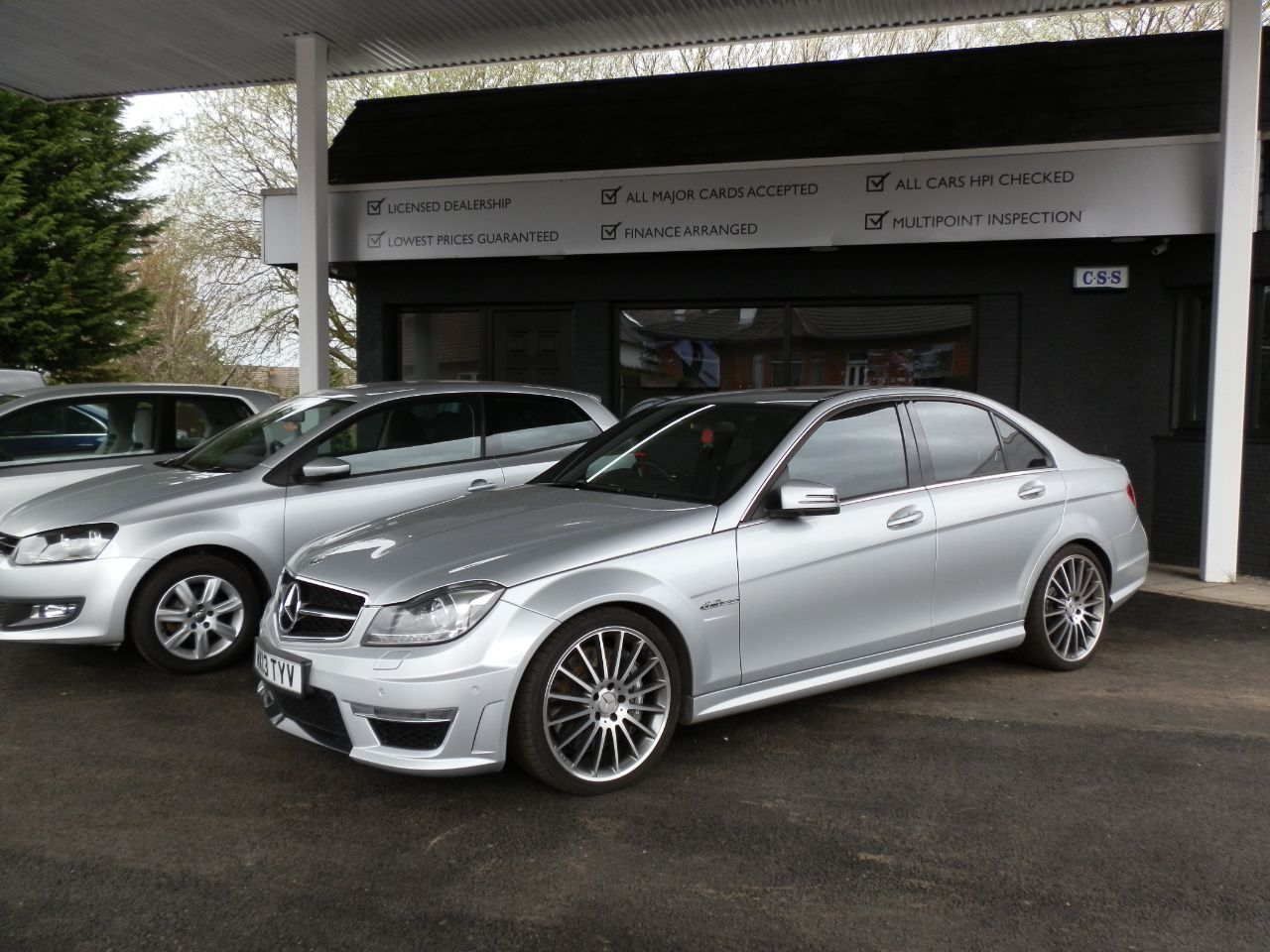 Mercedes-Benz C Class 6.2 C63 AMG 7-MCT, 451BHP Saloon Petrol silver