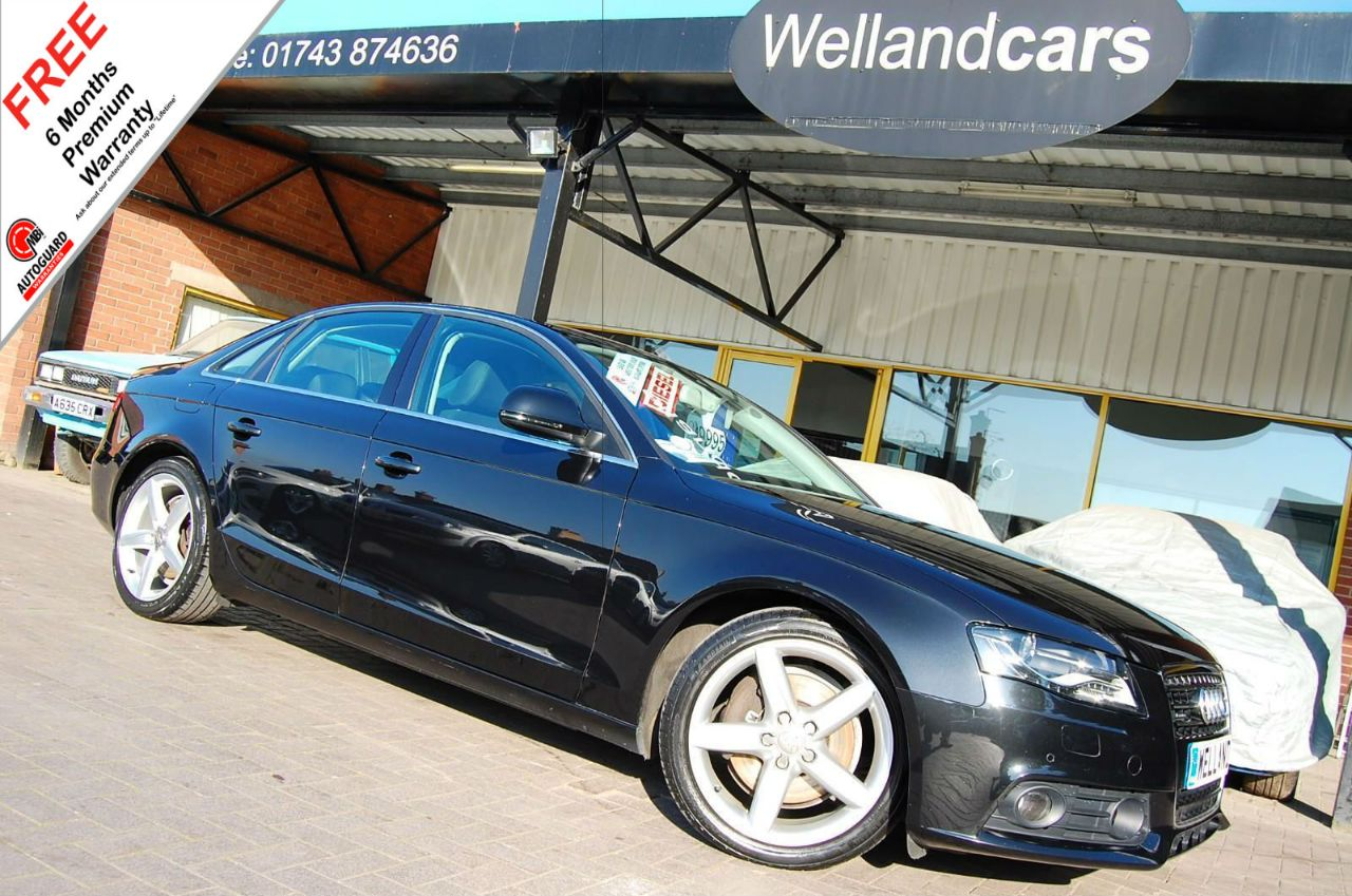 Audi A4 3.0 TDI Quattro SE 4dr,1 Previous Owner, F/S/H, Must See Huge Spec # 6 MONTH WARRANTY INCLUDED Saloon Diesel Metallic Black at Welland Cars Shrewsbury