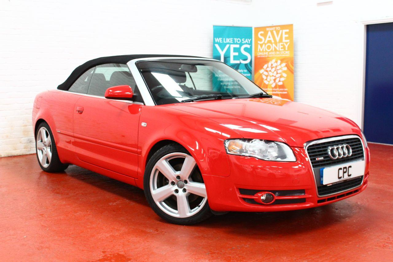 Audi A4 1.8T S Line 2dr Convertible Petrol Red