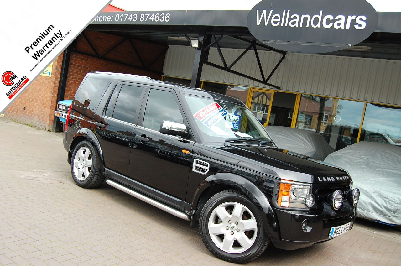 Land Rover Discovery 2.7 Td V6 Pursuit Limited Edition 5dr Auto, F/S/H,Leather,19`Alloys, Side Steps, 7 Seats,PTS. Estate Diesel Java Black Metallic at Welland Cars Shrewsbury