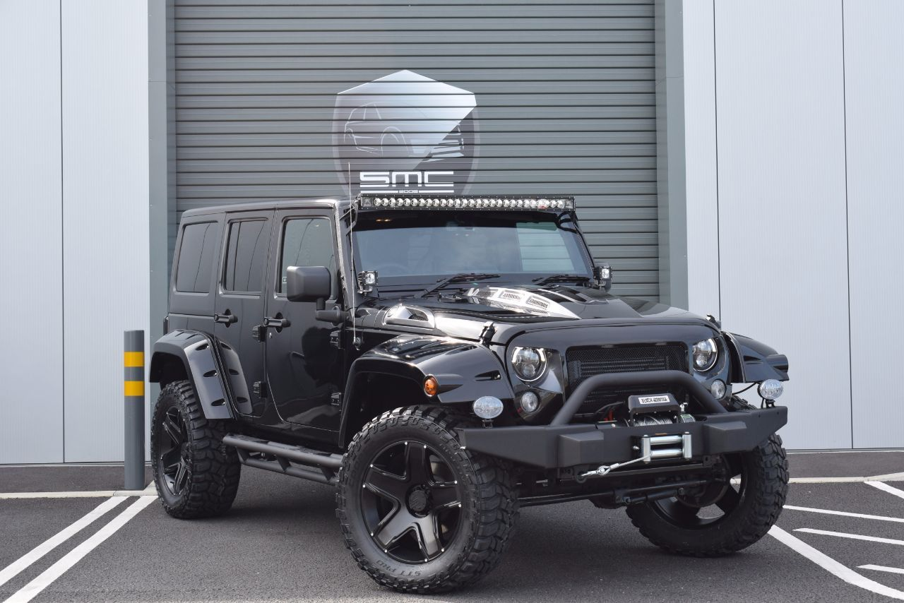 Jeep Wrangler 2.8 CRD Black Mountain, Murdered out 4dr Auto Convertible Diesel Black