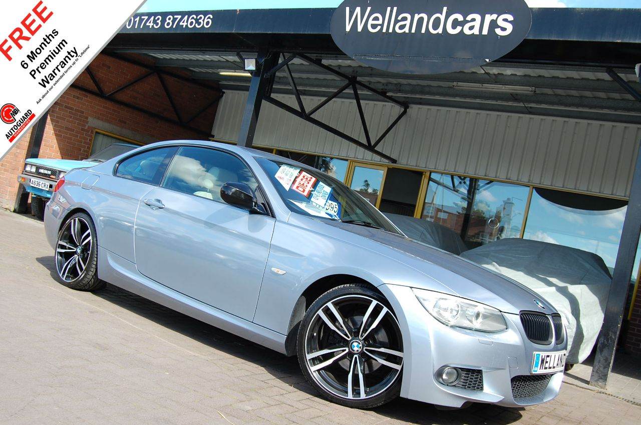 BMW 3 Series 2.0 320d M Sport 2dr - F/S/H,1 Owner,19`Alloys,Xenons,Leather # 6 MONTH WARRANTY INCLUDED Coupe Diesel Blue Water Metallic at Welland Cars Shrewsbury