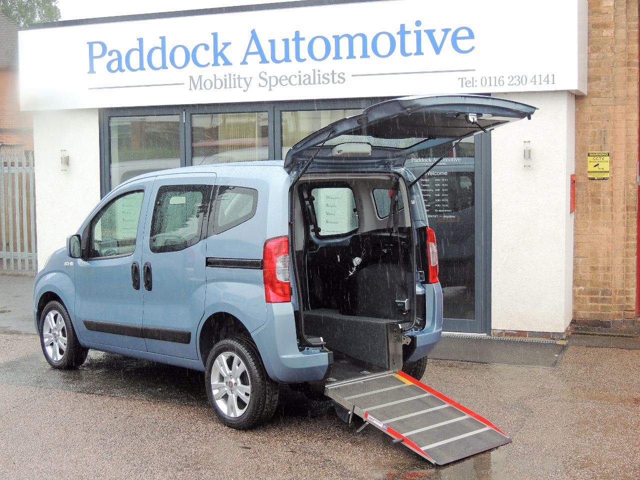 Fiat Qubo 1.3 Multijet MyLife Disabled Wheelchair Adapted Vehicle WAV Wheelchair Adapted Diesel Blue Mica