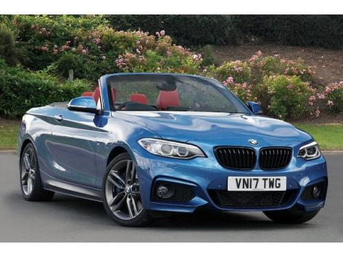BMW 2 Series 2.0TD 220d M Sport Convertible Diesel Estoril Blue Metallic