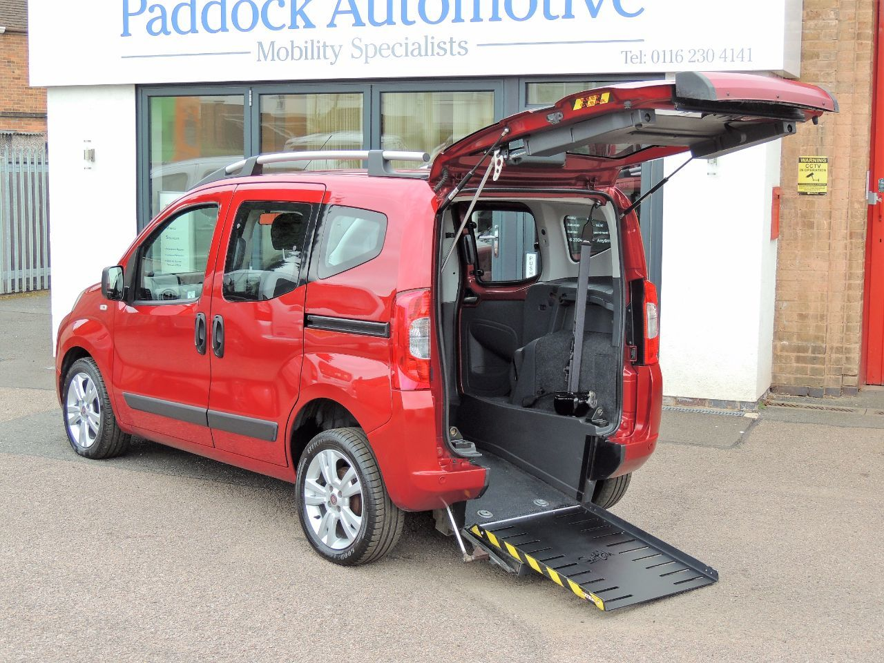 Fiat Qubo 1.3 Multijet Dynamic 5dr Dualogic Wheelchair Adapted Diesel Red