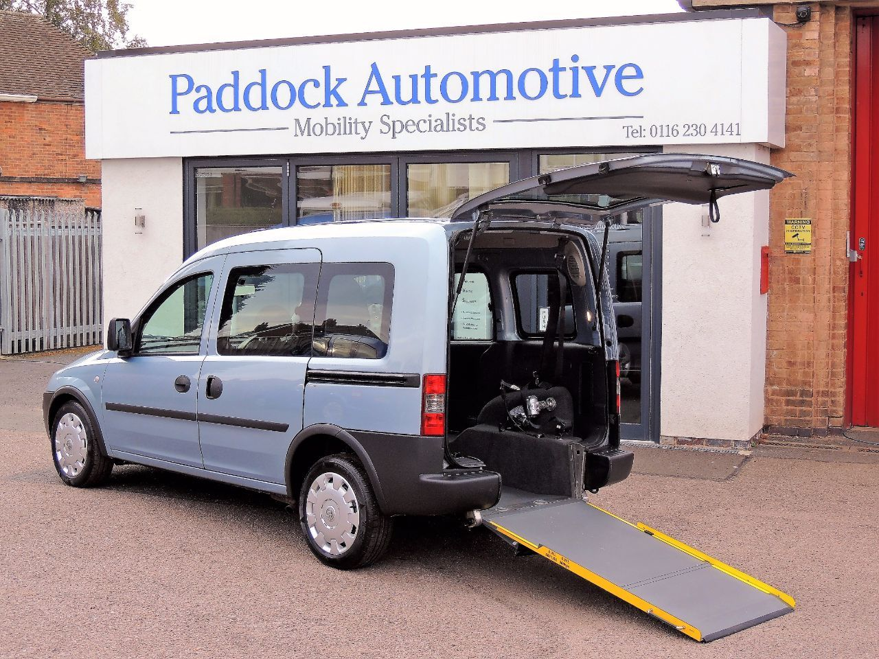 Vauxhall Combo Tour 1.4i Disabled Wheelchair Adapted Vehicle WAV Wheelchair Adapted Petrol Blue