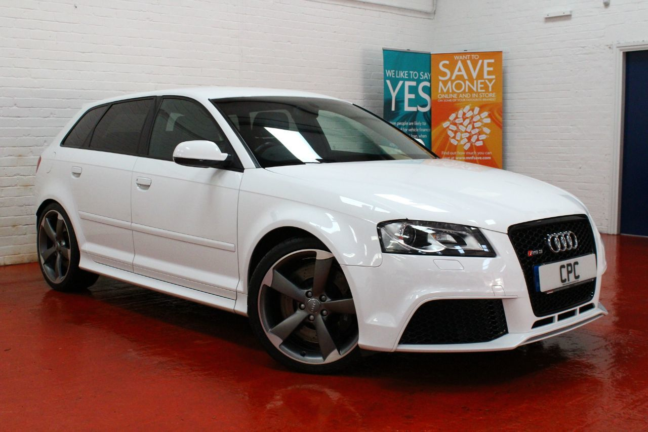Audi RS3 2.5T FSI RS3 Quattro 5dr S Tronic Hatchback Petrol White