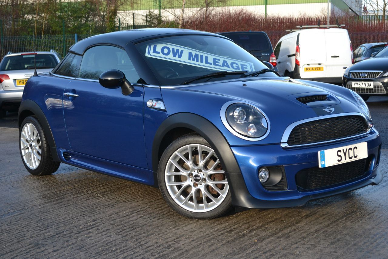 Mini Coupe 1.6 Cooper S 3dr FACTORY JOHN COOPER WORKS KIT Coupe Petrol Lightening Blue Metallic