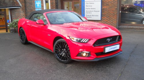 Ford Mustang 5.0 V8 GT CONVERTIBLE AUTO Convertible Petrol Red
