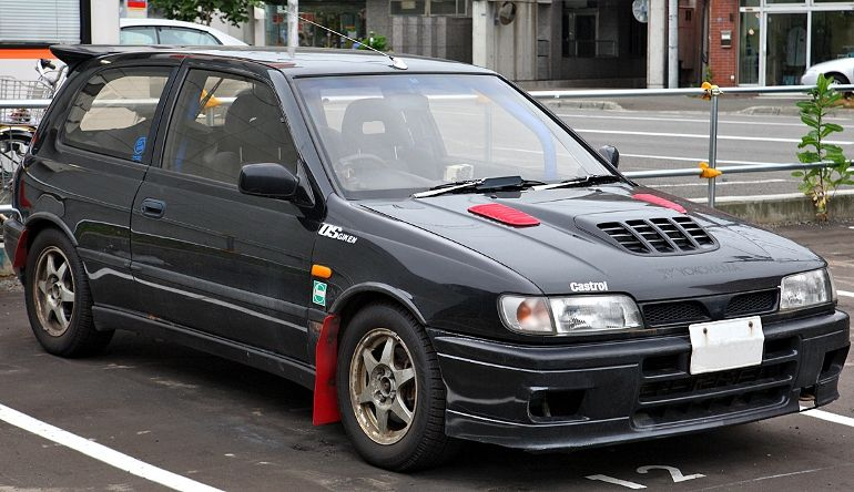 top 12 hot hatches from the 90s nissan sunny gti r. Black Bedroom Furniture Sets. Home Design Ideas
