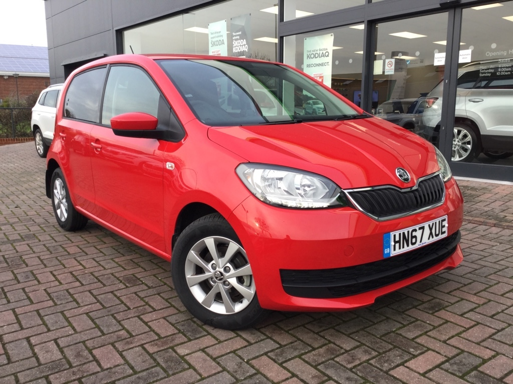 Skoda Citigo 1.0 SE MPI Hatchback Petrol red