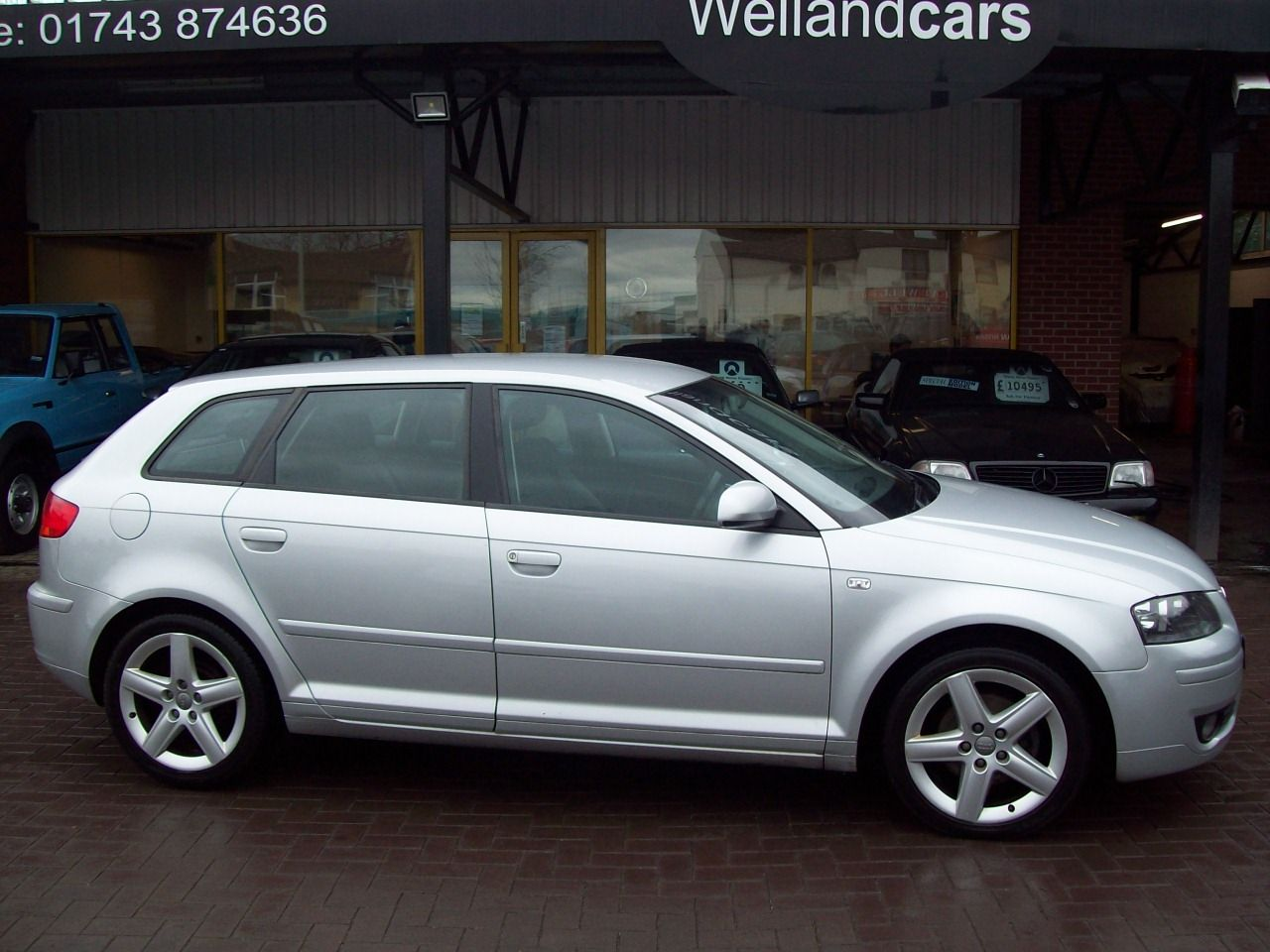 Audi A3 2.0 TDi Sportback  5dr 6 Speed Manual Diesel,1 Previous Owner, A/C, F/S/H Hatchback Diesel Silver at Welland Cars Shrewsbury