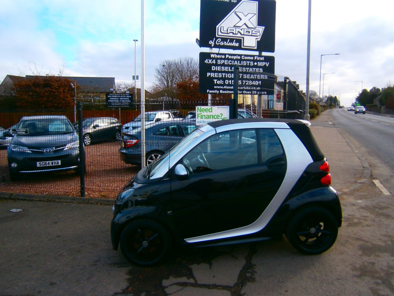 Smart Fortwo Cabrio 1.0 Grandstyle 2dr Softouch Auto 84 Convertible Petrol Black