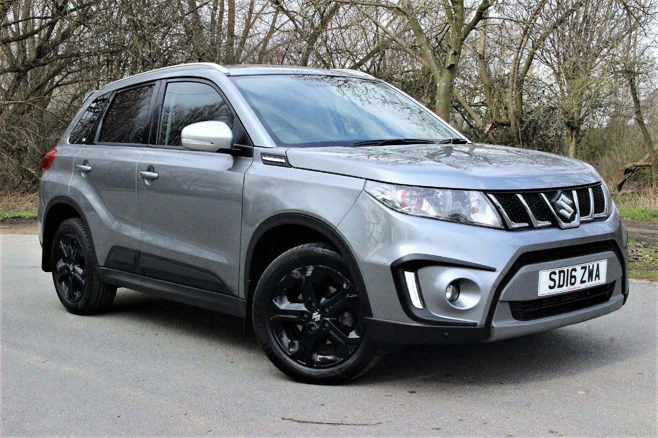 Suzuki Vitara 1.4 Boosterjet S ALLGRIP 5dr, SAT NAV, BLUE TOOTH Four Wheel Drive Petrol Galactic Grey Metallic at Luscombe Qashqai Comparison Leeds
