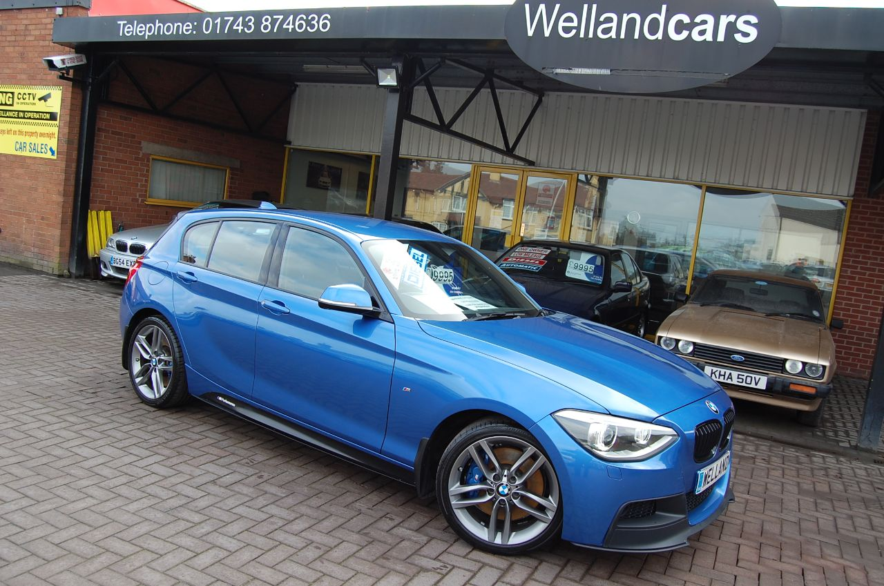 BMW 1 Series 118d M Sport Performance 2.0 Turbo Diesel 6 Speed Manual. 1 Previous Owner FBMWSH Hatchback Diesel Blue at Welland Cars Shrewsbury