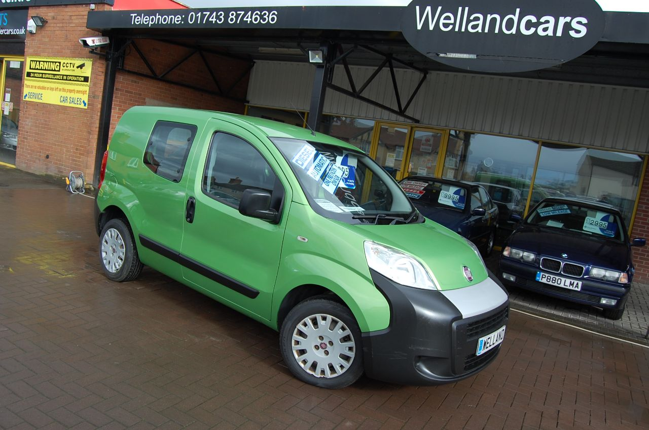 Fiat Fiorino 1.3 Multijet Diesel Multi-Tronic [5 seat] 1 Previous Owner Cheap Tax MPV Diesel Green at Welland Cars Shrewsbury
