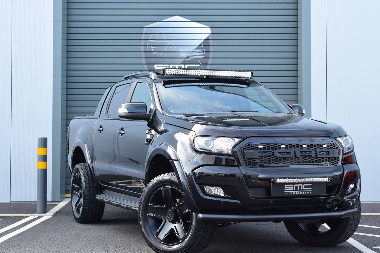 Ford Ranger Wildtrak 3.2 TDCi 4WD Double Cab SMC HAWK EDITION, OWN THIS CAR FROM £399 PER MONTH Pick Up Diesel Black