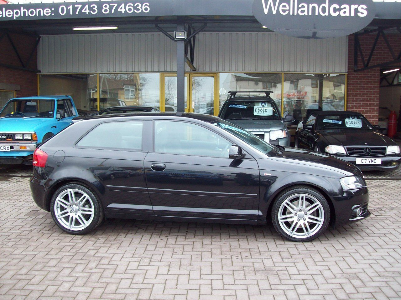 Audi A3 2.0 TDI 170BHP S Line 3dr 6 Speed Diesel, 1 owner from new, Full Audi Service History Hatchback Diesel Black at Welland Cars Shrewsbury