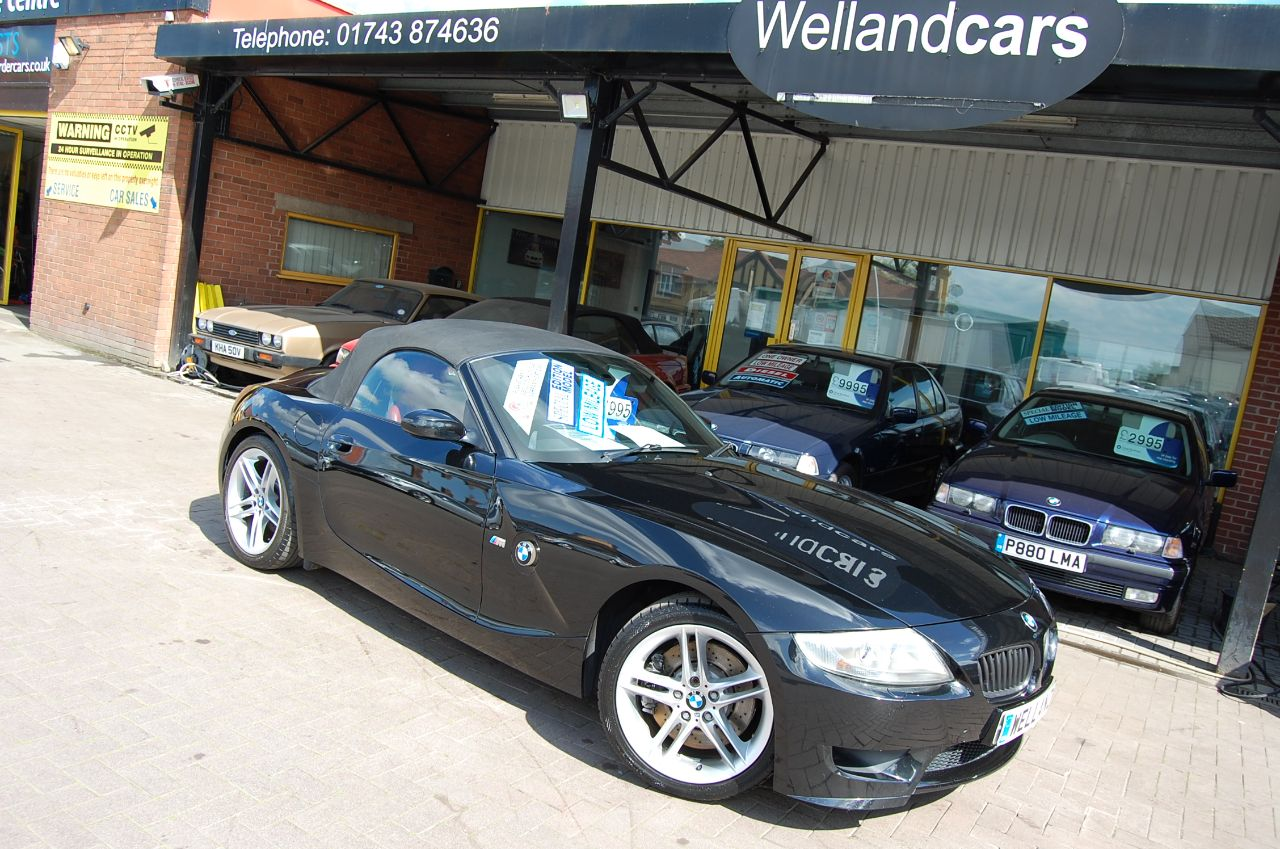 BMW Z4m 2006 06 BMW Z4M 3.2 ROADSTER, GENUINE M POWER CAR, LOW MILES, BLACK- RED LEATHER Convertible Petrol Black at Welland Cars Shrewsbury