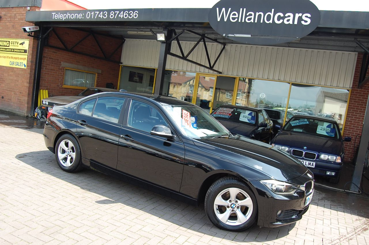 BMW 3 Series 2.0 320d EfficientDynamics 4dr  FULL HISTORY, ECONOMICAL, CHEAP TAX ! FINANCE THIS VEHICLE TODAY Saloon Diesel Black at Welland Cars Shrewsbury