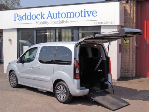 Peugeot Partner Tepee Partner 1.6 HDi Impulse Automatic Drive From and Ride Up Wheelchair Accessible Vehicle WAV Wheelchair Adapted Diesel Silver Mica