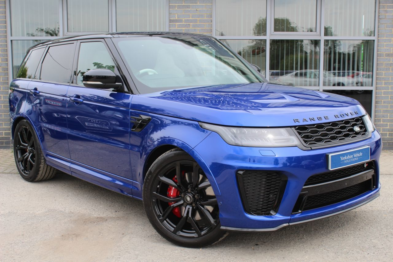 Land Rover Range Rover Sport 5.0 V8 Supercharged SVR Auto Estate Petrol Blue