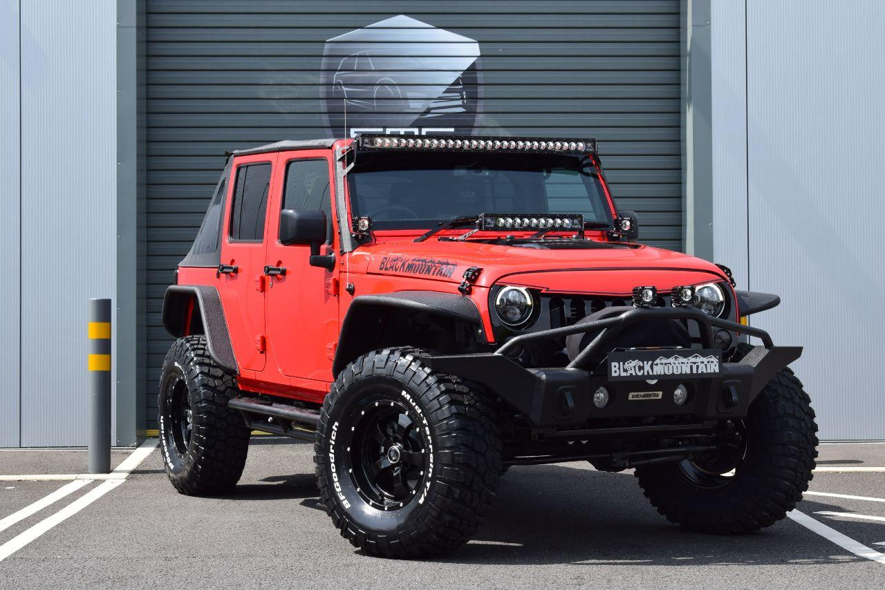 Jeep Wrangler 2.8 CRD AUTO Black Mountain Convertible Convertible Diesel Red