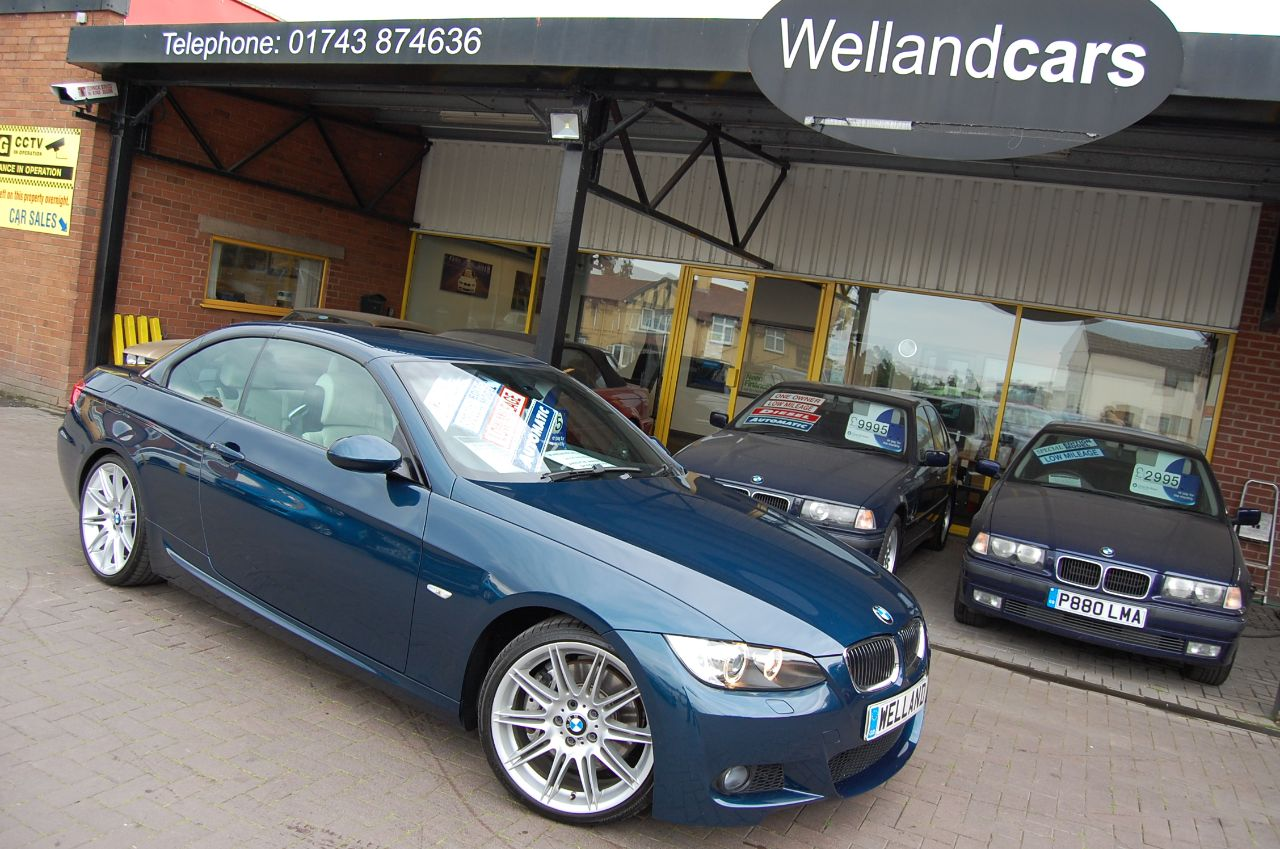 BMW 3 Series 3.0 335i M Sport 2dr Auto Individual Convertible Only 27000 Miles Convertible Petrol Metallic Agean Blue at Welland Cars Shrewsbury