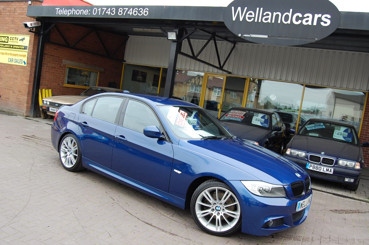 BMW 3 Series 2.0 320d M Sport Business Edition 4dr  - LEMANS BLUE LEATHER- NAV- 72,000 MILES Saloon Diesel Blue at Welland Cars Shrewsbury