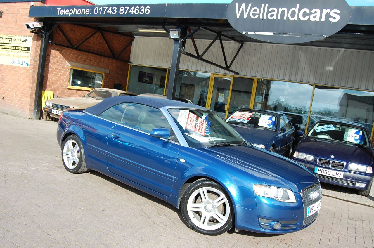 Audi A4 2.0 TDi  SPORT CABRIOLET CONVERTIBLE, 1 LADY OWNER, # DEPOSIT TAKEN # Convertible Diesel Blue at Welland Cars Shrewsbury