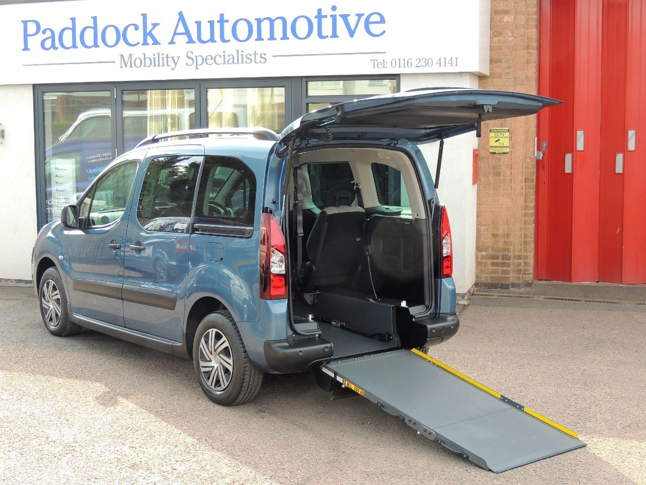 Citroen Berlingo Multispace 1.6 BERLINGO M-SP AIR XTR Auto Disabled Wheelchair Adapted Vehicle WAV Wheelchair Adapted Diesel Blue Mica