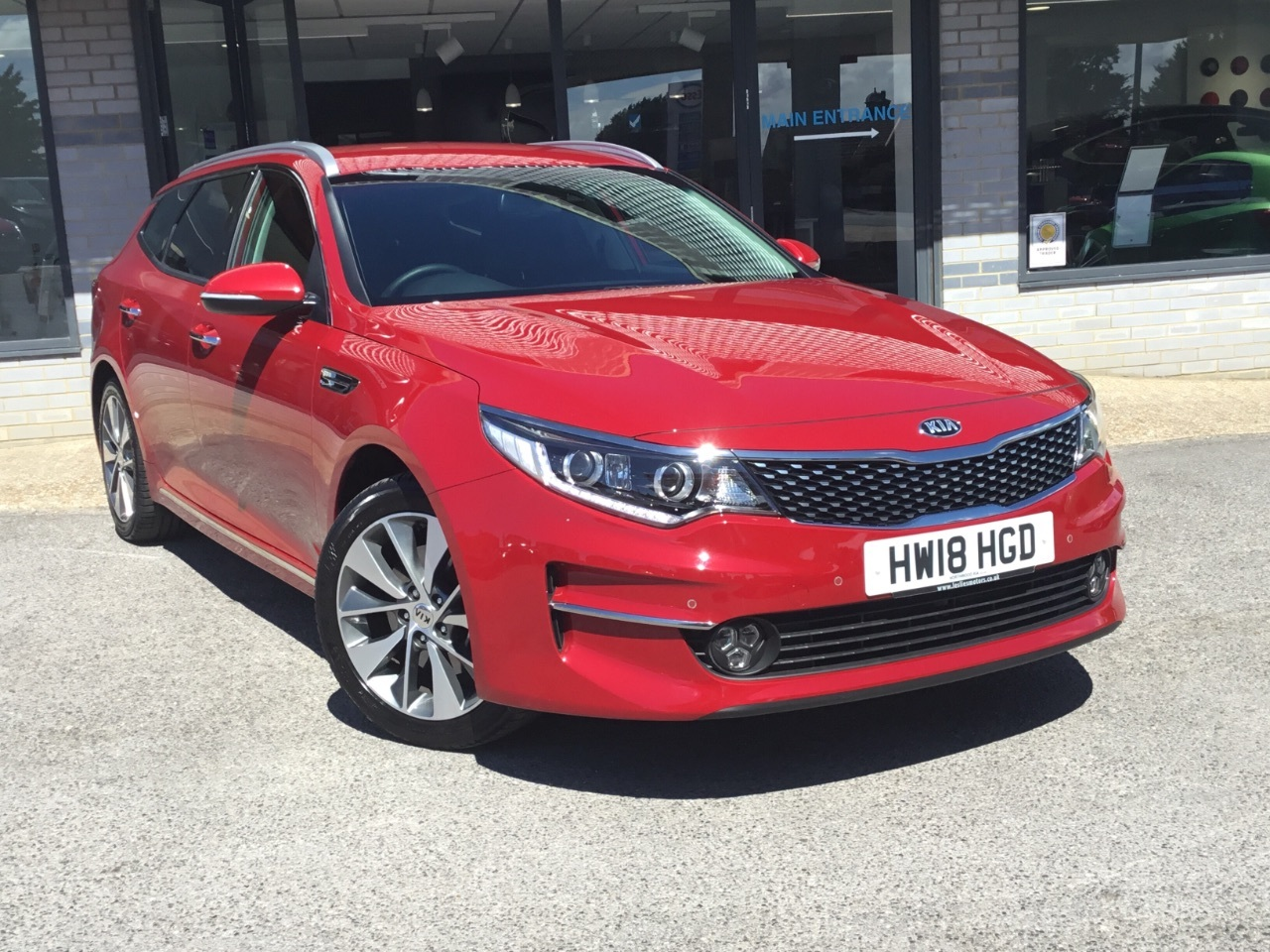 Kia Optima 1.7 CRDi ISG 3 5dr DCT Estate Diesel Red