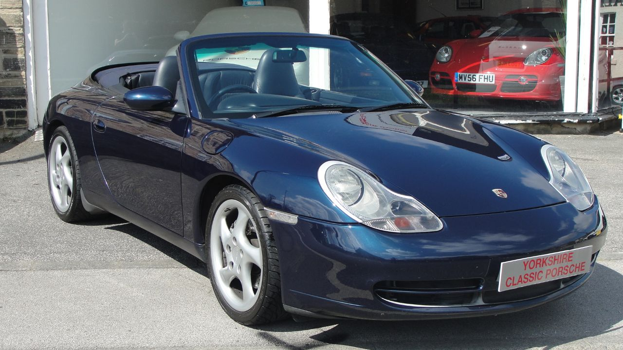 Porsche 911 3.4 Carrera 4 Convertible Petrol Blue at Yorkshire Classic Porsche Collingham