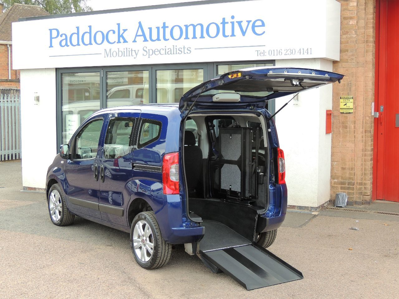 Fiat Qubo 1.3 Multijet MyLife Dualogic Automatic Disabled Wheelchair Adapted Vehicle WAV Wheelchair Adapted Diesel Blue Mica