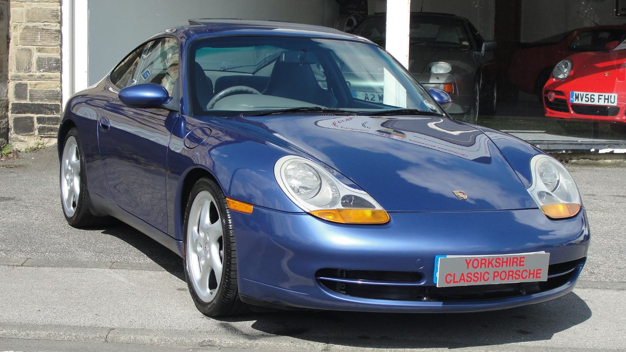 Porsche 911 3.4 996 Carrera Coupe Petrol Blue at Yorkshire Classic Porsche Collingham