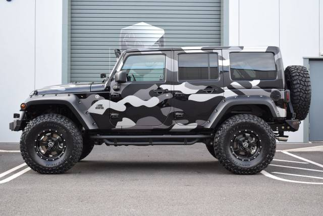 Jeep Wrangler 2.8 CRD Overland 4dr Auto Black Mountain Convertible Diesel Black